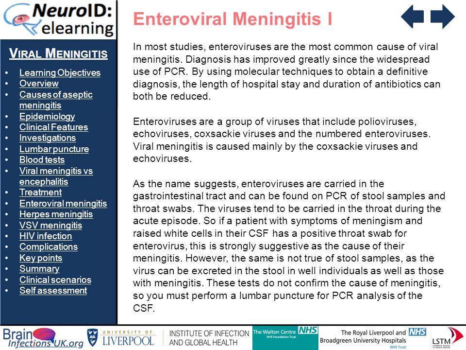 Enteroviral Meningitis I