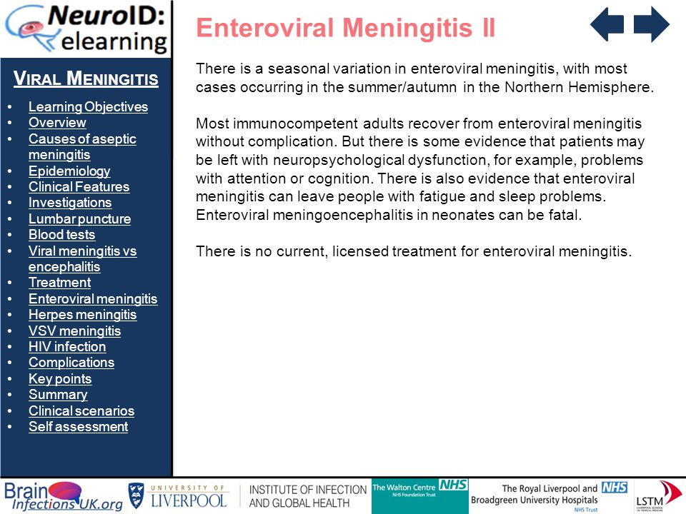 Enteroviral Meningitis II