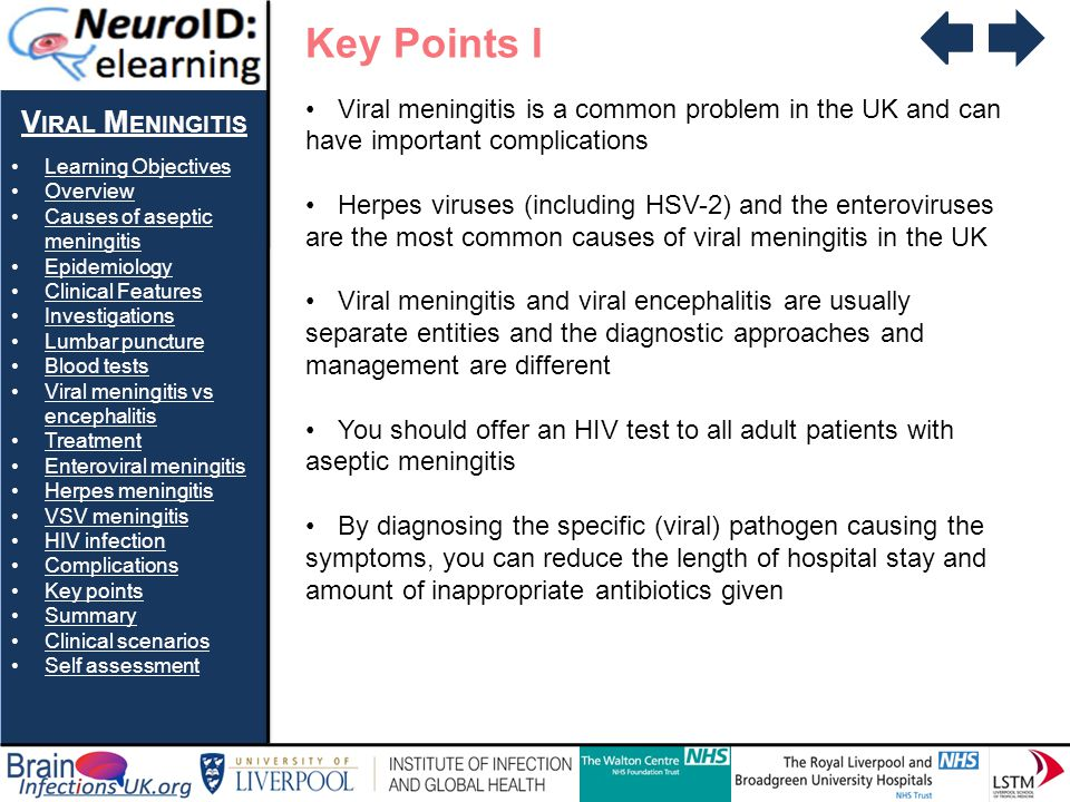 Key Points I Viral Meningitis