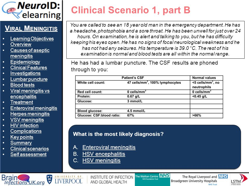 Clinical Scenario 1, part B