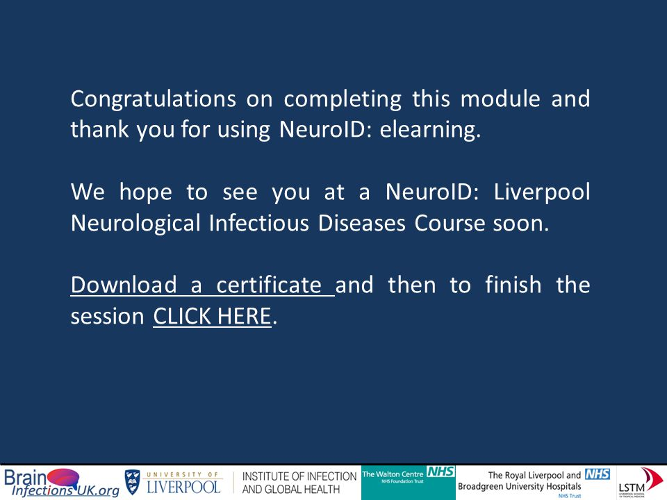 Congratulations on completing this module and thank you for using NeuroID: elearning.