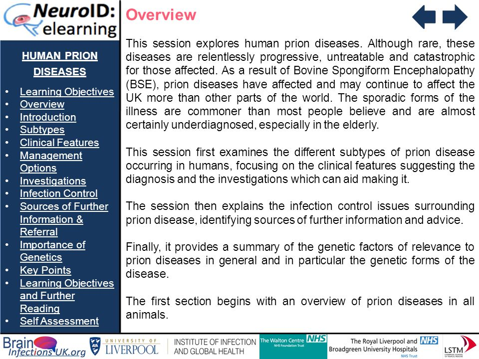Overview human prion diseases