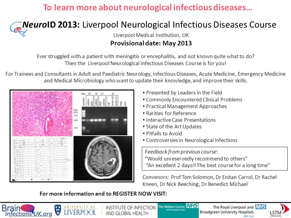 NeuroID 2013: Liverpool Neurological Infectious Diseases Course