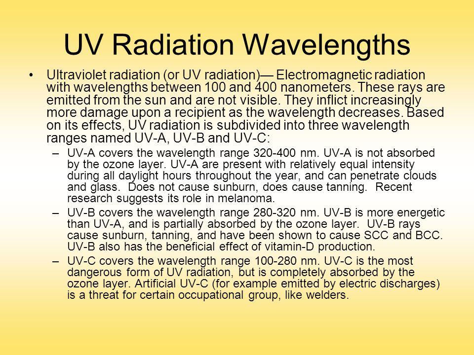 UV Radiation Wavelengths