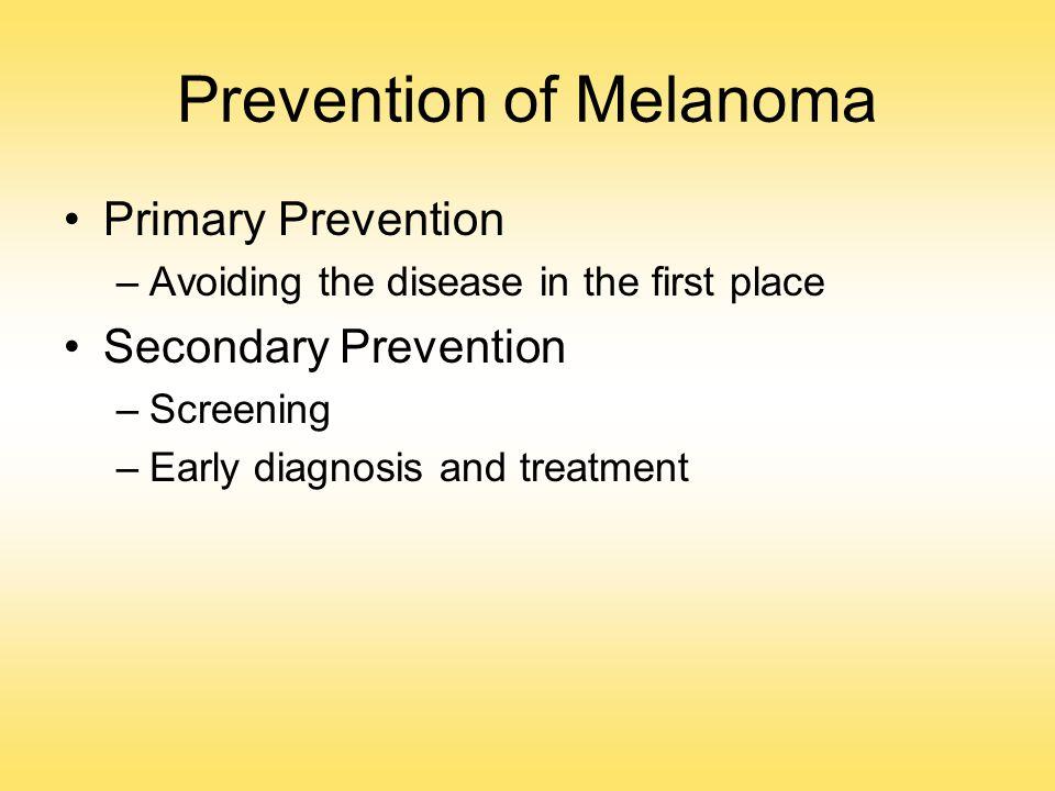Prevention of Melanoma