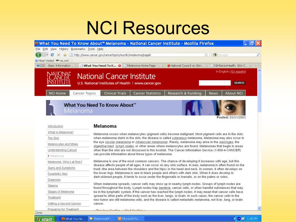 NCI Resources