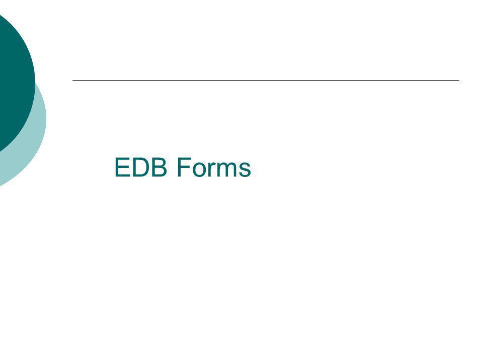 EDB Forms