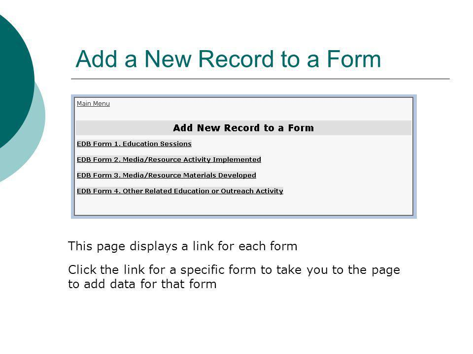 Add a New Record to a Form