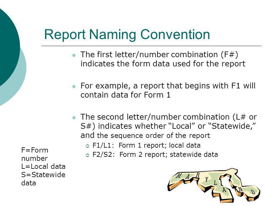 Report Naming Convention