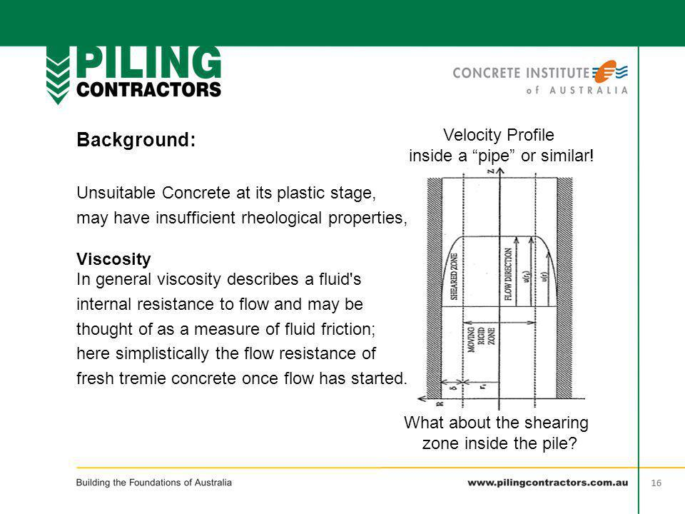 Background: Velocity Profile inside a pipe or similar!