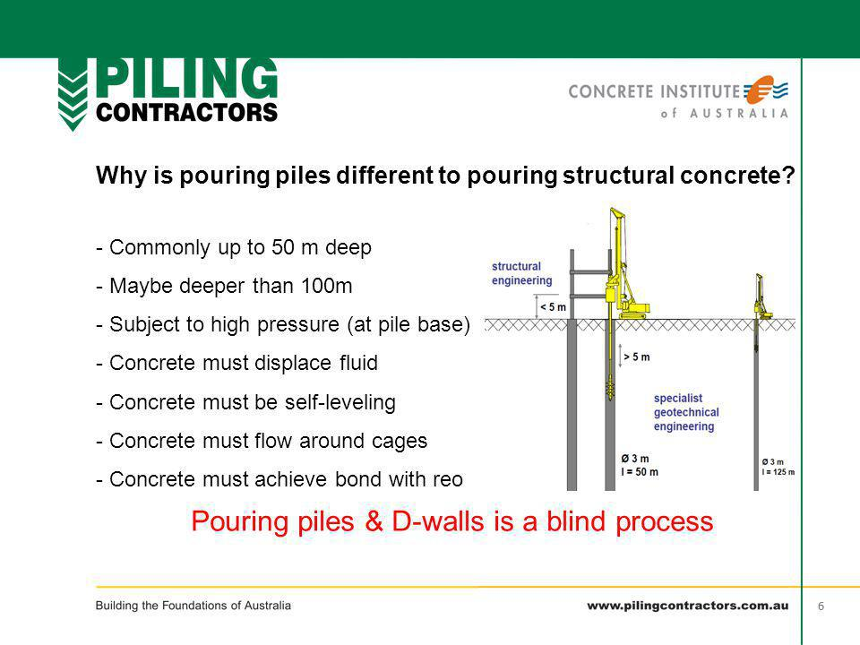 Pouring piles & D-walls is a blind process