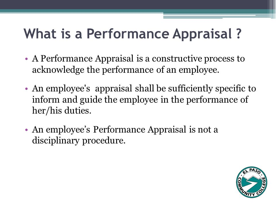The Performance Appraisal Process  Ppt Video Online Download