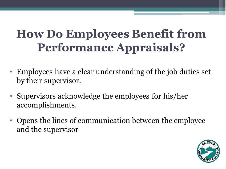 How Do Employees Benefit from Performance Appraisals