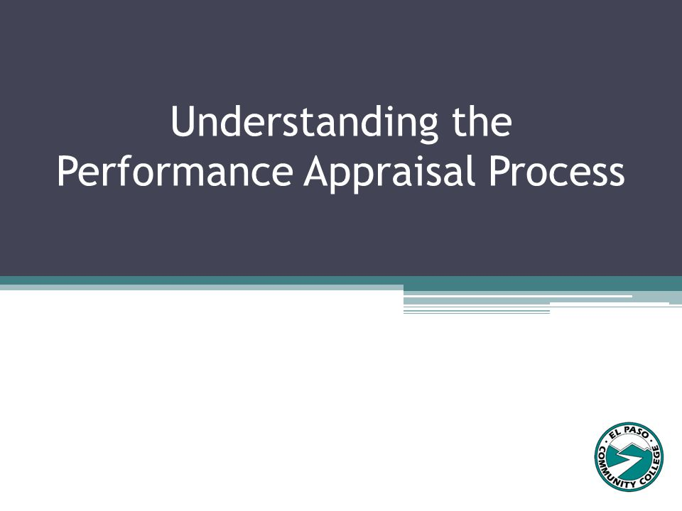 Understanding the Performance Appraisal Process