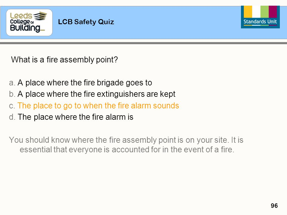 What is a fire assembly point