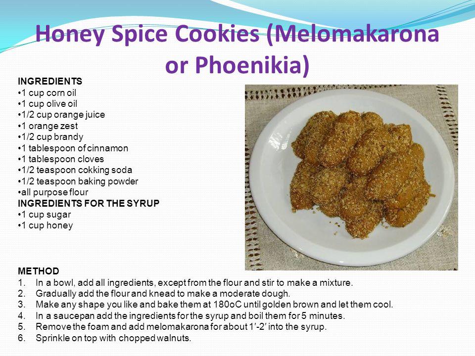 Honey Spice Cookies (Melomakarona or Phoenikia)