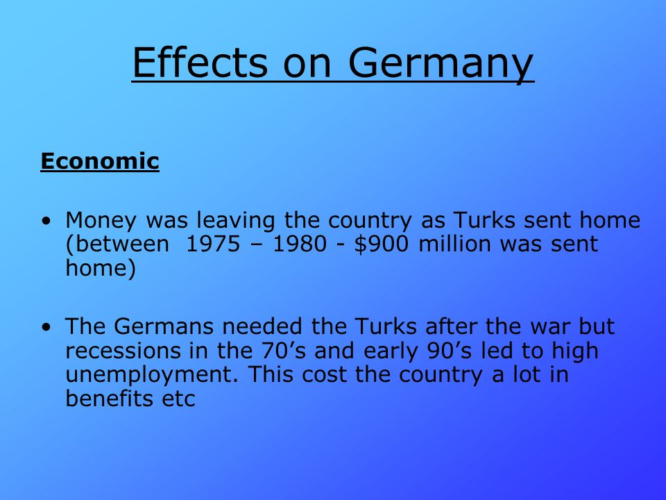 Effects on Germany Economic