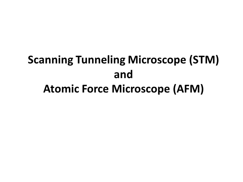 Scanning Tunneling Microscope (STM) and Atomic Force Microscope (AFM)