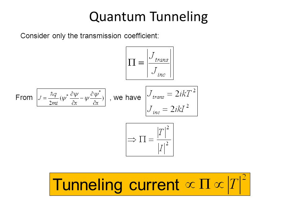 Tunneling current Quantum Tunneling