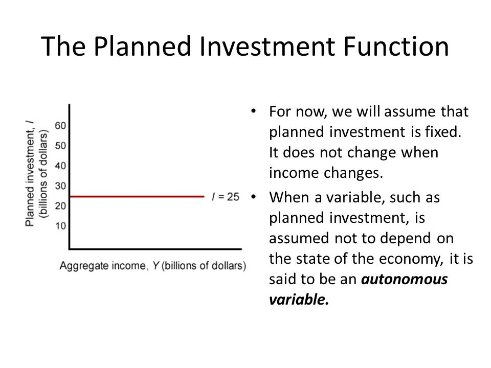 The Planned Investment Function