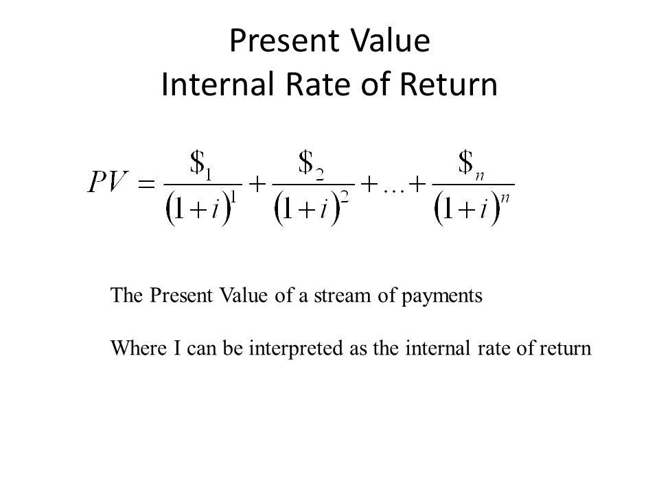 Present Value Internal Rate of Return