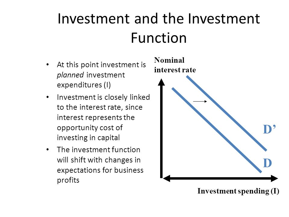 Investment and the Investment Function