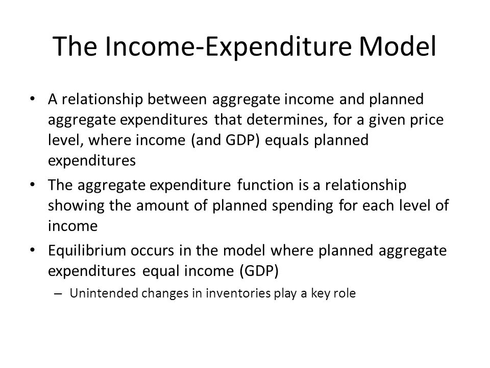 The Income-Expenditure Model