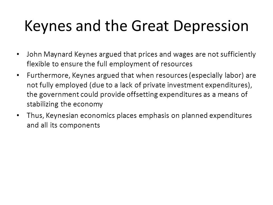 Keynes and the Great Depression
