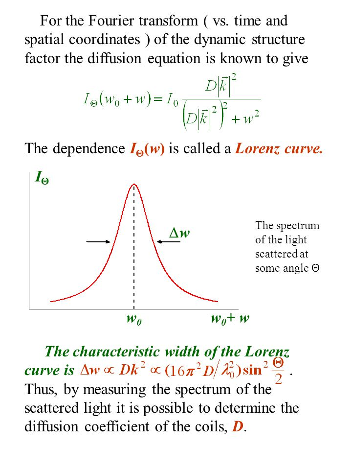 The dependence I(w) is called a Lorenz curve.