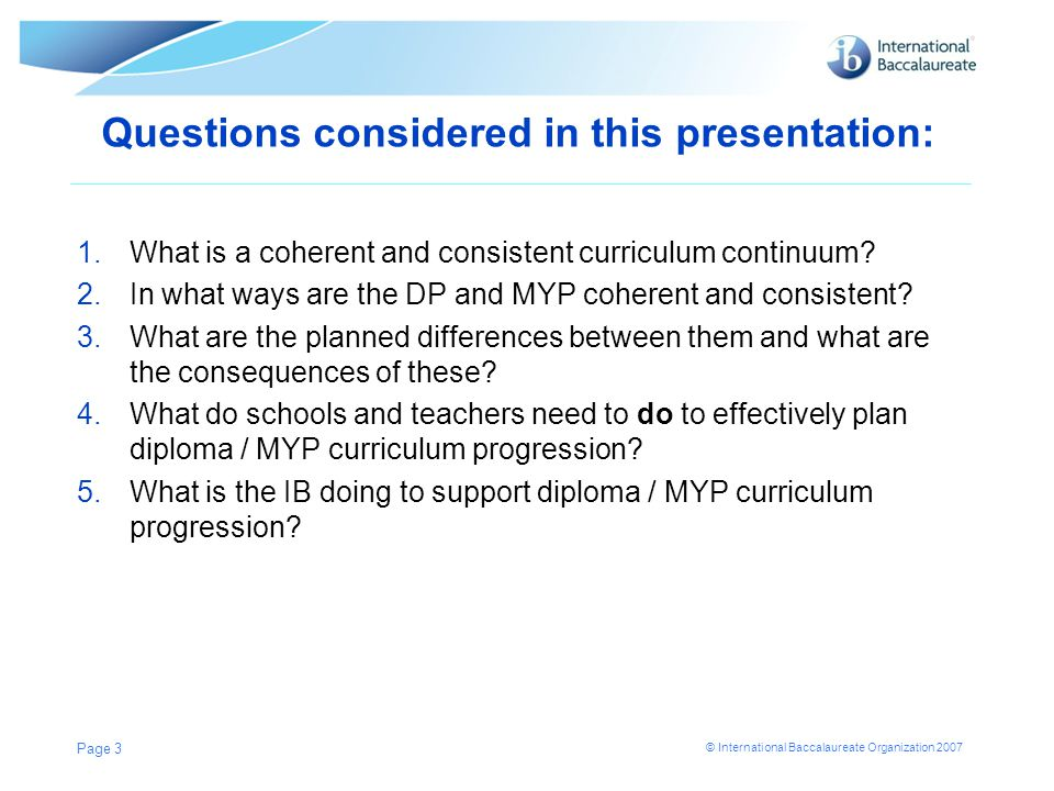 Questions considered in this presentation: