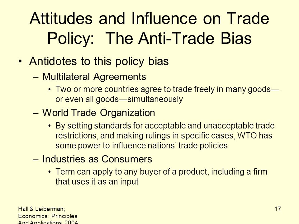 Attitudes and Influence on Trade Policy: The Anti-Trade Bias