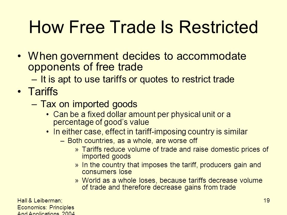 How Free Trade Is Restricted