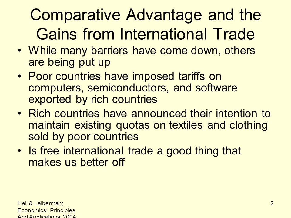 Comparative Advantage and the Gains from International Trade