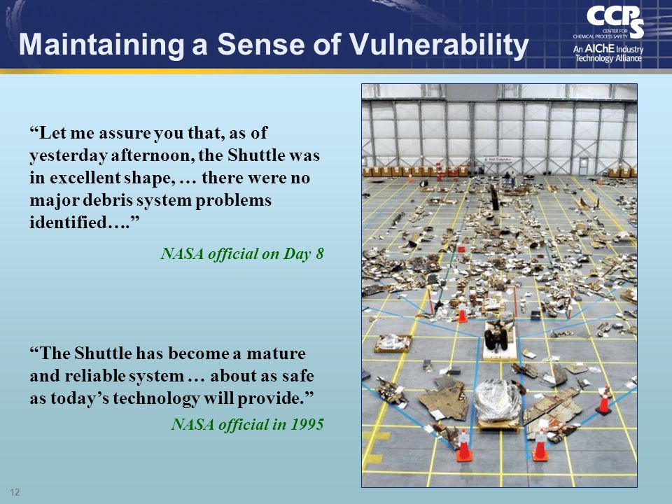 Maintaining a Sense of Vulnerability