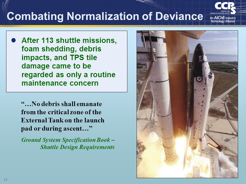 Combating Normalization of Deviance