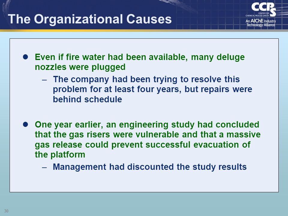 The Organizational Causes