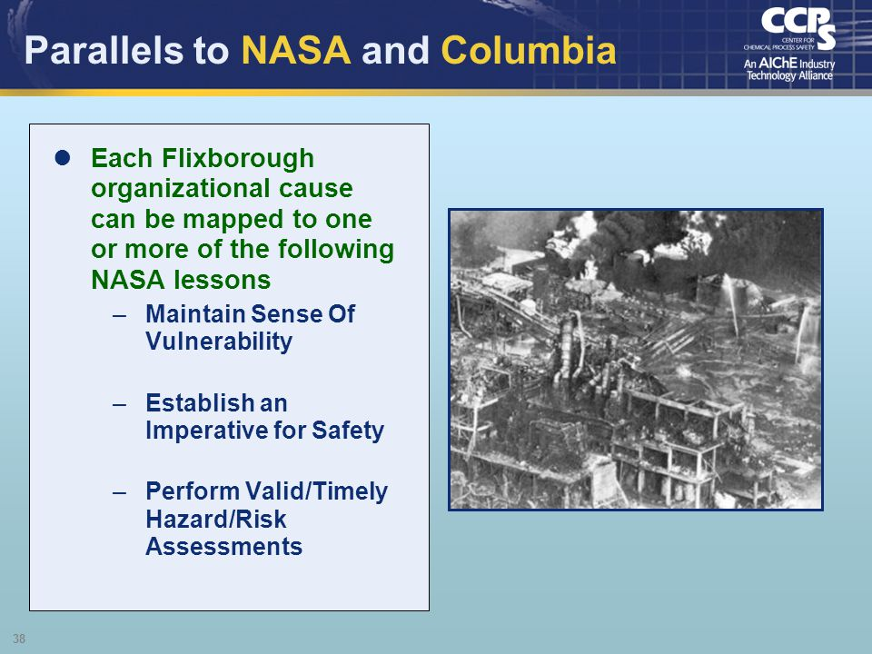 Parallels to NASA and Columbia