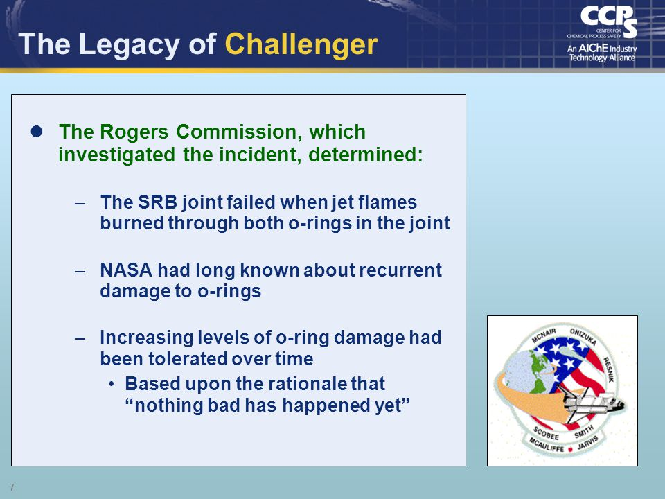 The Legacy of Challenger