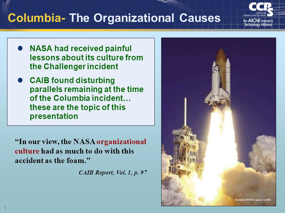 Columbia- The Organizational Causes