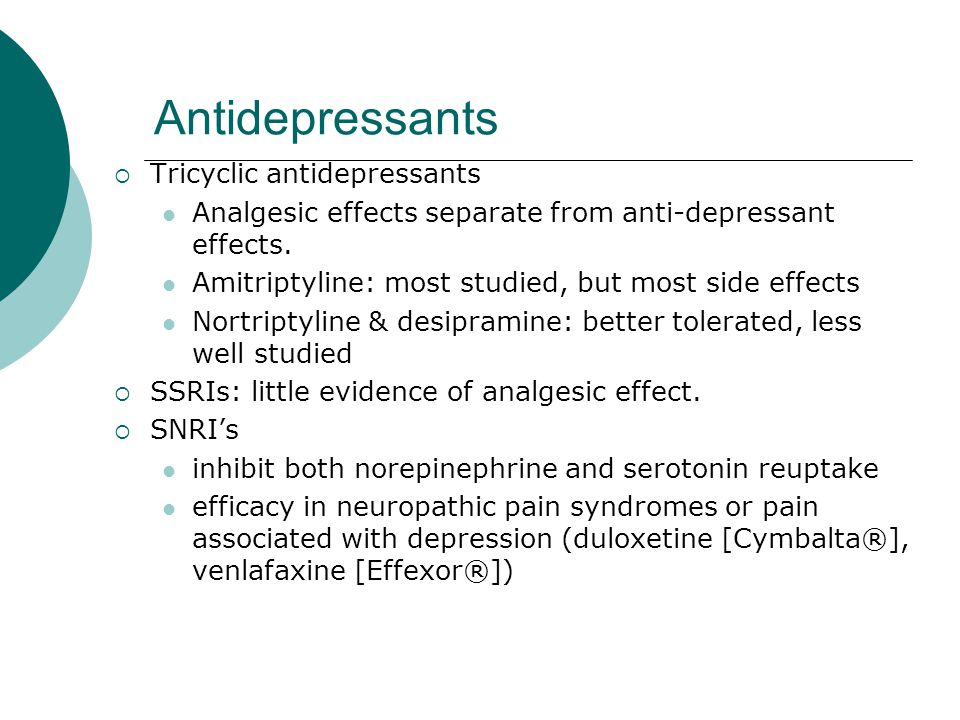 Amitriptyline Most Common Side Effects