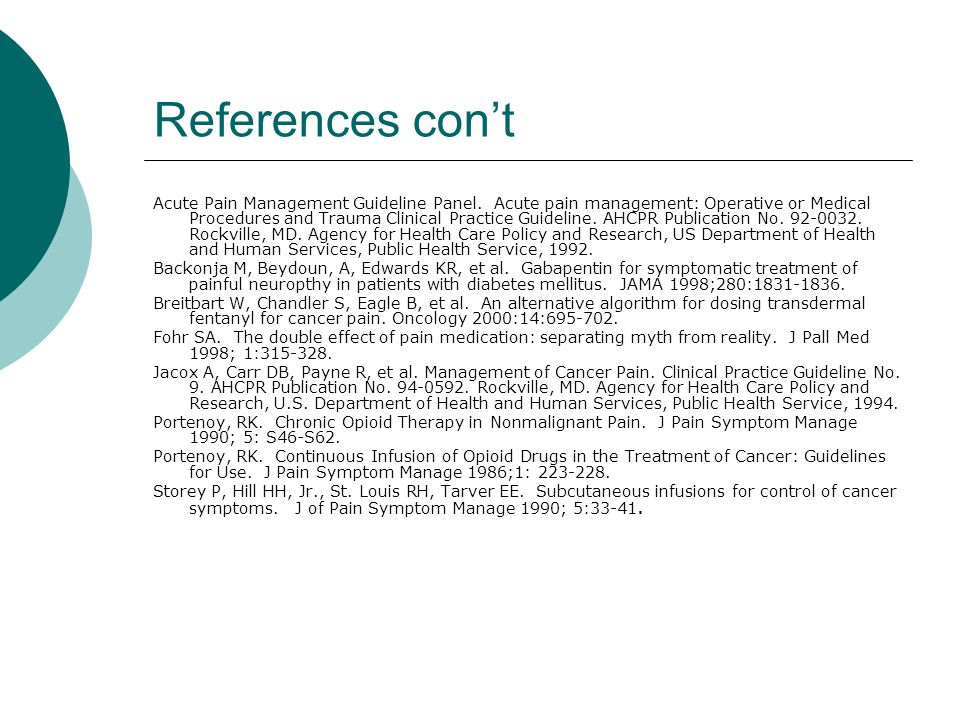 References con't