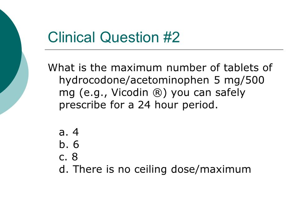 Clinical Question #2