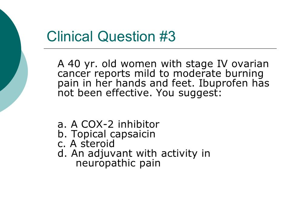 Clinical Question #3
