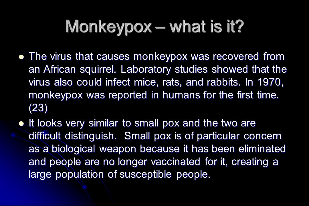 Monkeypox – what is it