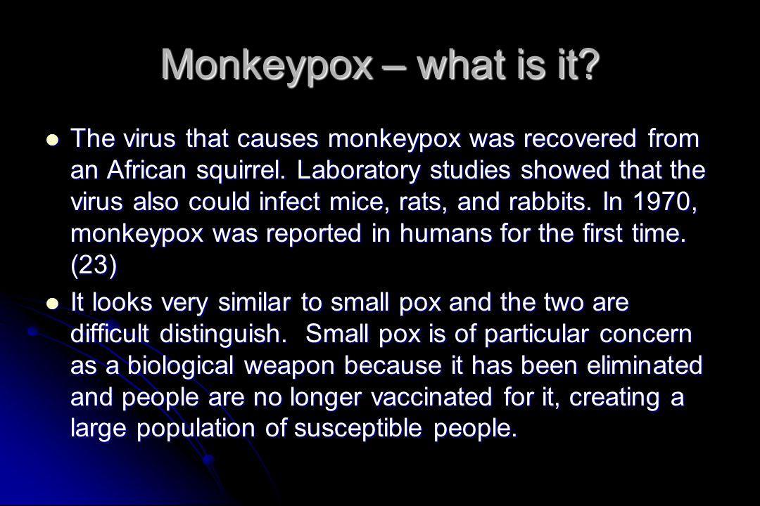 Monkeypox – what is it