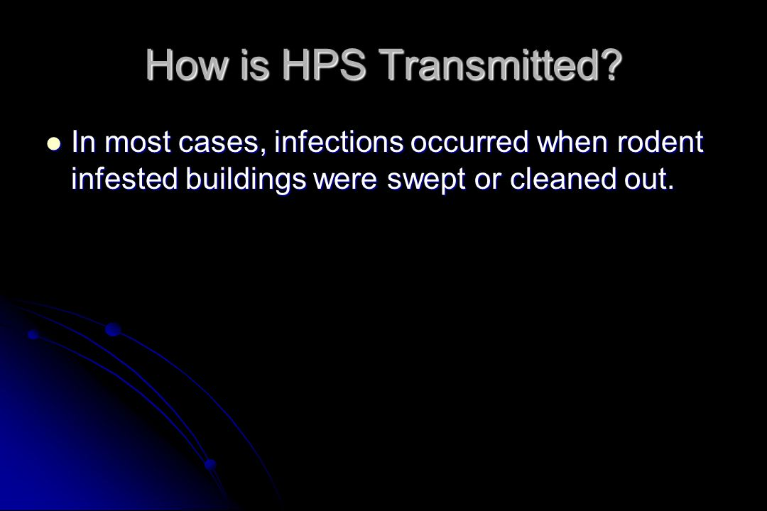 How is HPS Transmitted.