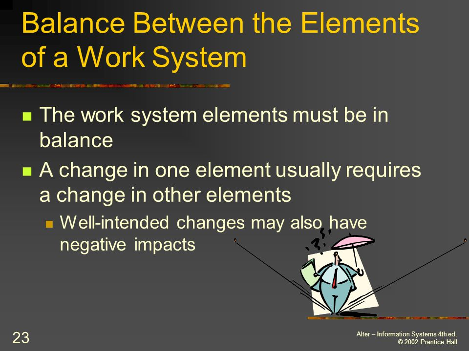 Balance Between the Elements of a Work System