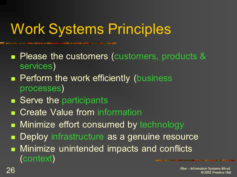 Work Systems Principles
