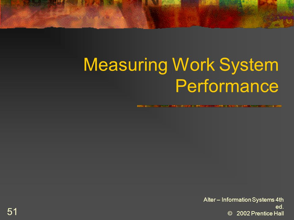 Measuring Work System Performance