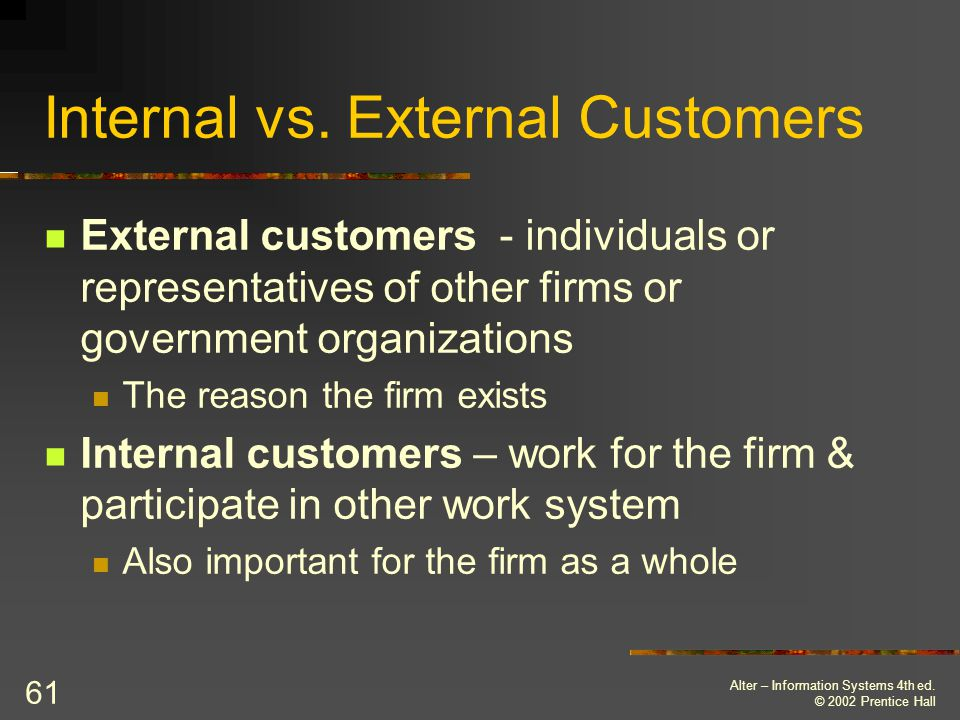 Internal vs. External Customers
